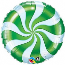"Christmas Foil Balloon - Candy Cane Green (18"") 1pc"